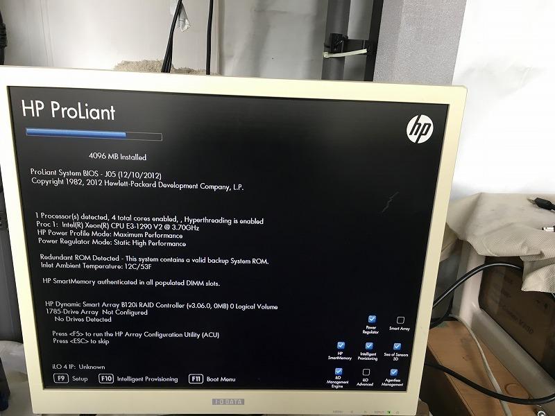 ■騒音低減サーバーラック付き!HP ProLiant DL320e Gen8(CPU:Xeon E3-1220 V2 3.1GHz/RAM:4GB/RAID(B120i)+バッファロー TeraStation_画像2