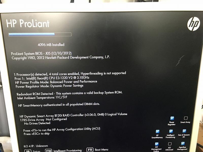 ■騒音低減サーバーラック付き!HP ProLiant DL320e Gen8(CPU:Xeon E3-1220 V2 3.1GHz/RAM:4GB/RAID(B120i)+バッファロー TeraStation_画像3