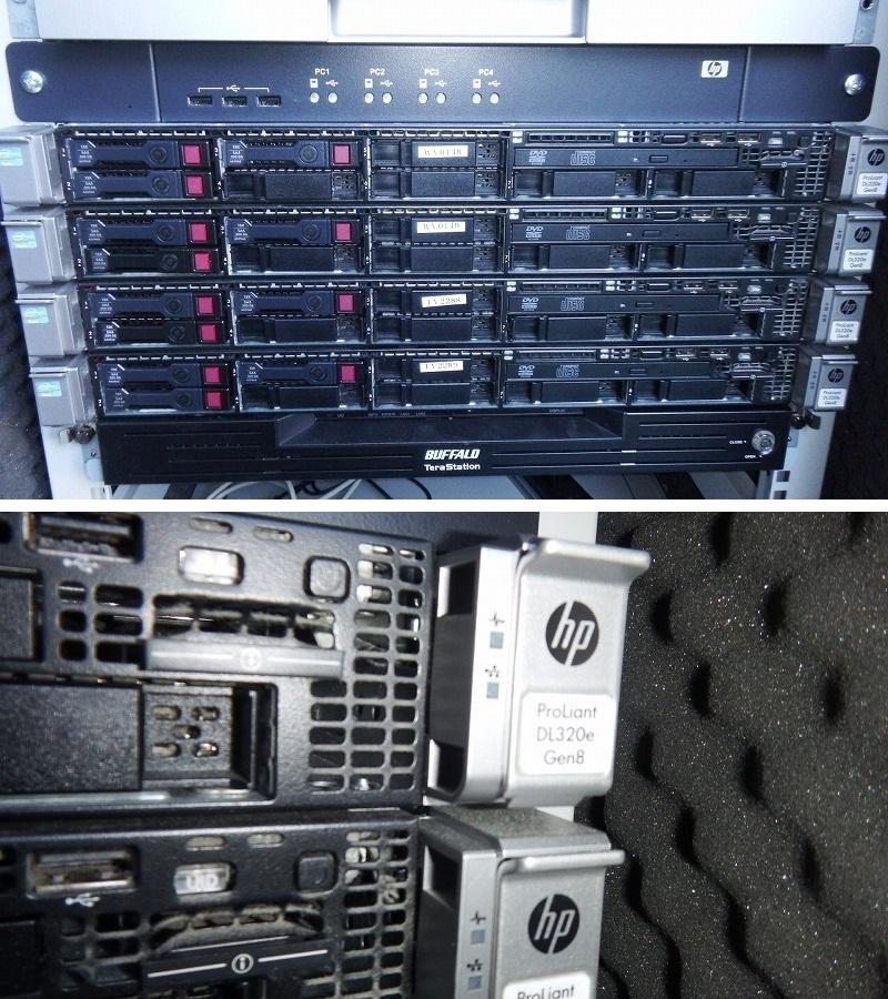■騒音低減サーバーラック付き!HP ProLiant DL320e Gen8(CPU:Xeon E3-1220 V2 3.1GHz/RAM:4GB/RAID(B120i)+バッファロー TeraStation_画像5