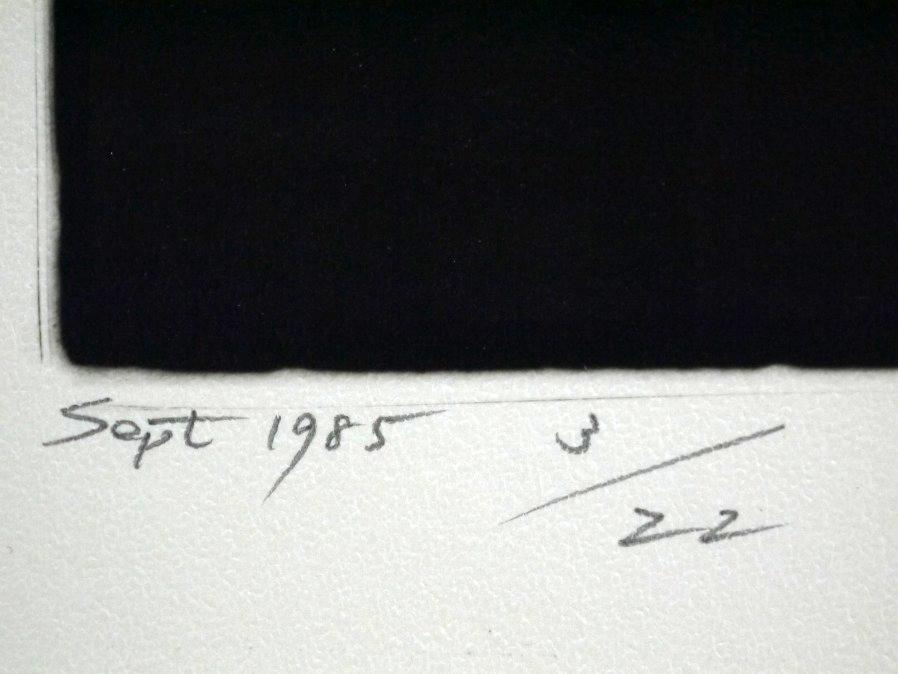 ■真作保証■【大坂寛】 ゼラチンシルバープリント 『Syzygy #61 Sept.1985』■ed.22■サインあり■額装:41.5×32cm■_画像7
