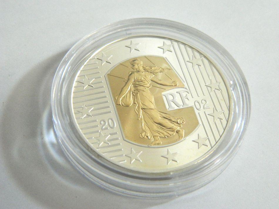 MONNAIE DE PARIS 2002 2003年 銀貨4種セット シルバー 750 K18 コンビ フランス銀貨セット モネドパリ プルーフ記念銀貨 4枚セット ケース_画像9