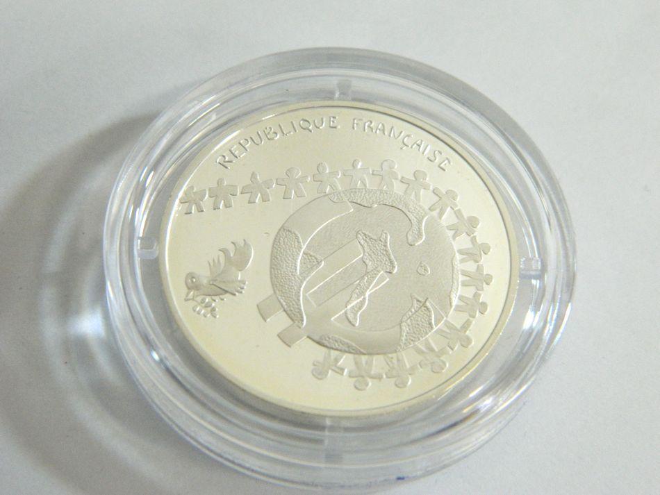 MONNAIE DE PARIS 2002 2003年 銀貨4種セット シルバー 750 K18 コンビ フランス銀貨セット モネドパリ プルーフ記念銀貨 4枚セット ケース_画像3