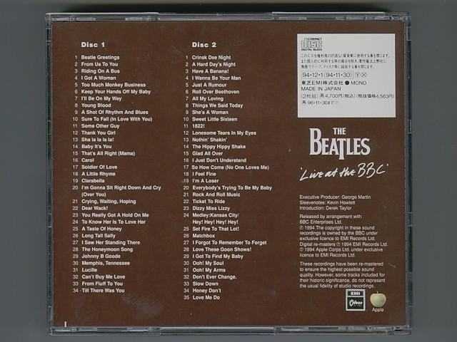 The Beatles Live At The BBC ビートルズ ライヴ!! アット・ザ・BBC [Used CD] [TOCP-8401・02] [2CD] [w/obi] [管理No.00264]_画像2