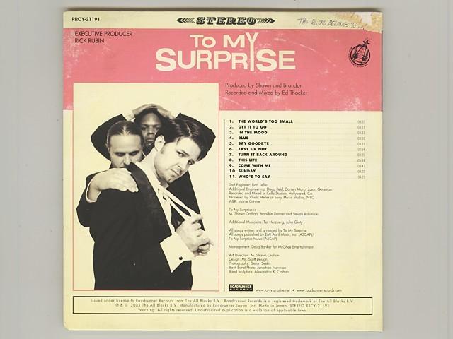 紙ジャケ To My Surprise トゥ・マイ・サプライズ Slipknot スリップノット [Used CD] [RRCY-21191] [Paper Sleeve] [w/obi] [管00264]_画像2