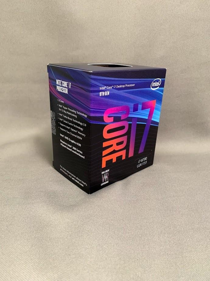 【新品・未開封】インテル Core i7 8700_画像2