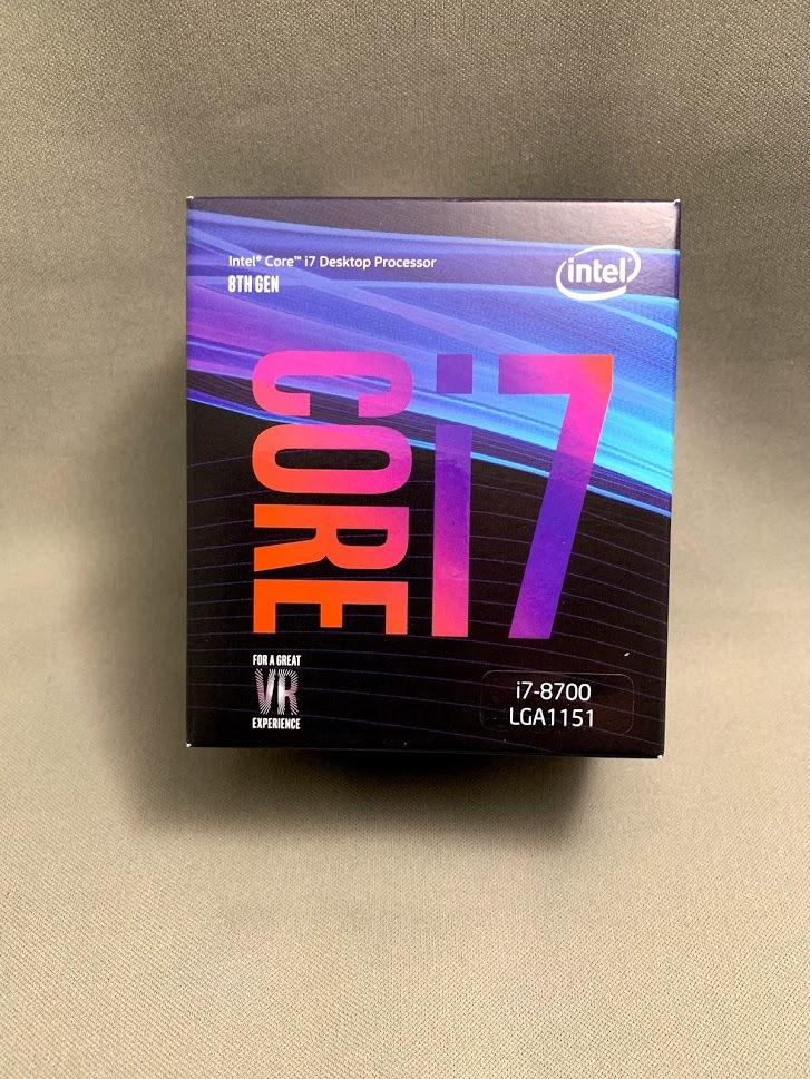 【新品・未開封】インテル Core i7 8700