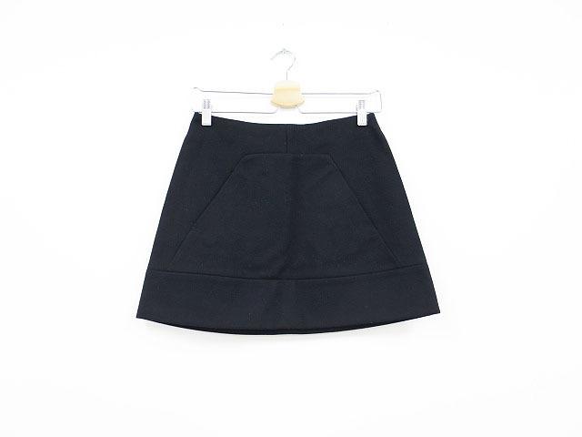 【即決】MIU MIU ミュウミュウ ウール台形スカート ブラック 36 レディース al1705b_画像1