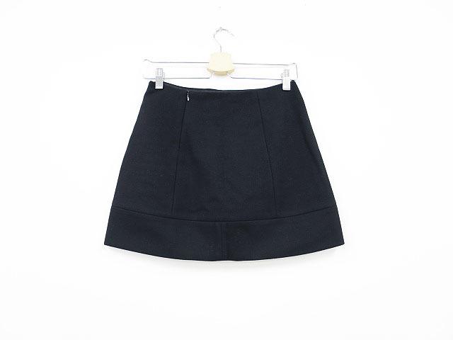 【即決】MIU MIU ミュウミュウ ウール台形スカート ブラック 36 レディース al1705b_画像2