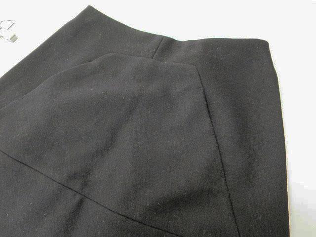 【即決】MIU MIU ミュウミュウ ウール台形スカート ブラック 36 レディース al1705b_画像5