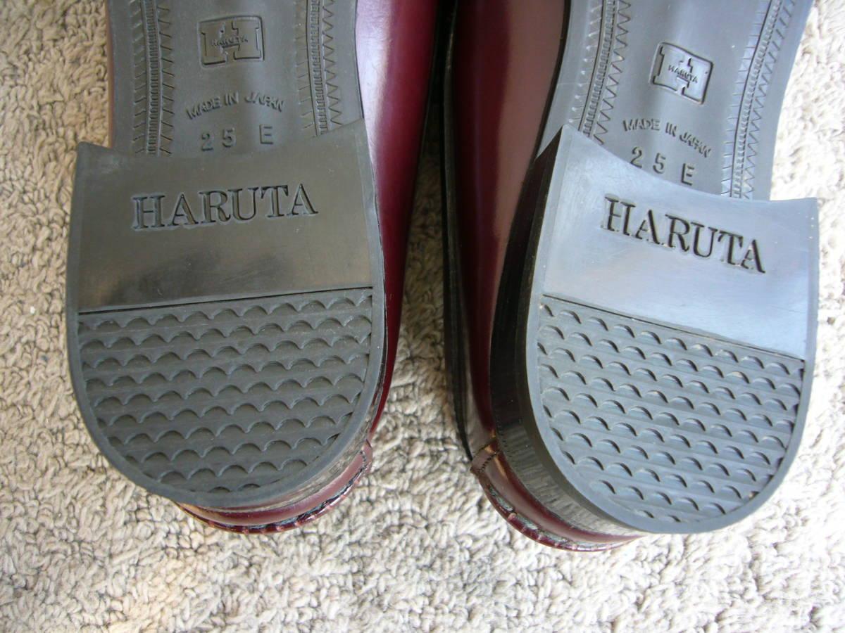 ★HARUTA   RanbanMoca  日本製   RCIC 304  本革 ローファー  茶   25.0cm E    美品_画像6