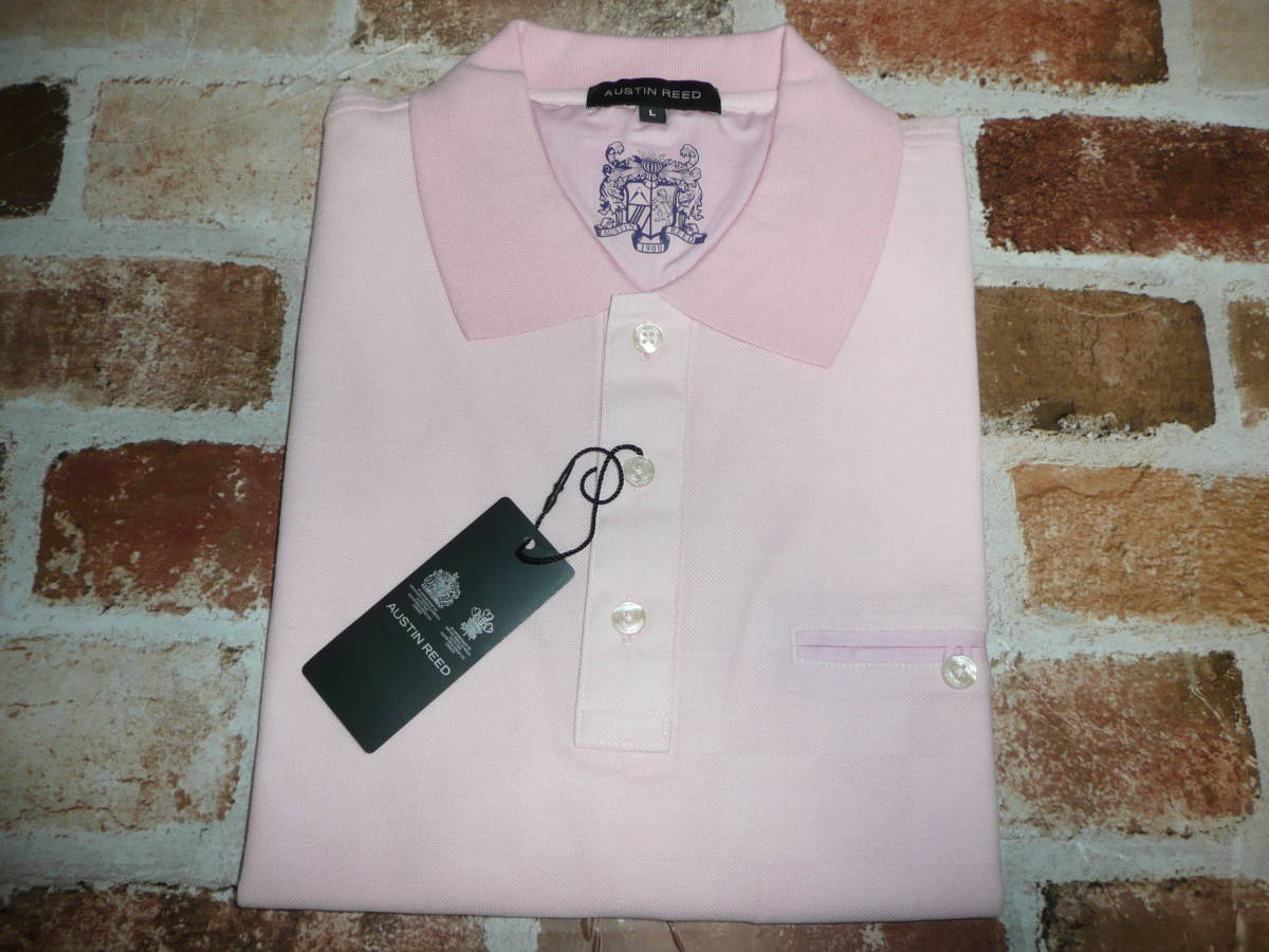 New Goods Austin Lead Polo Shirt With Short Sleeves Pink Check Pattern Size L Regular Price 14 040 Jpy Austin Reed Real Yahoo Auction Salling