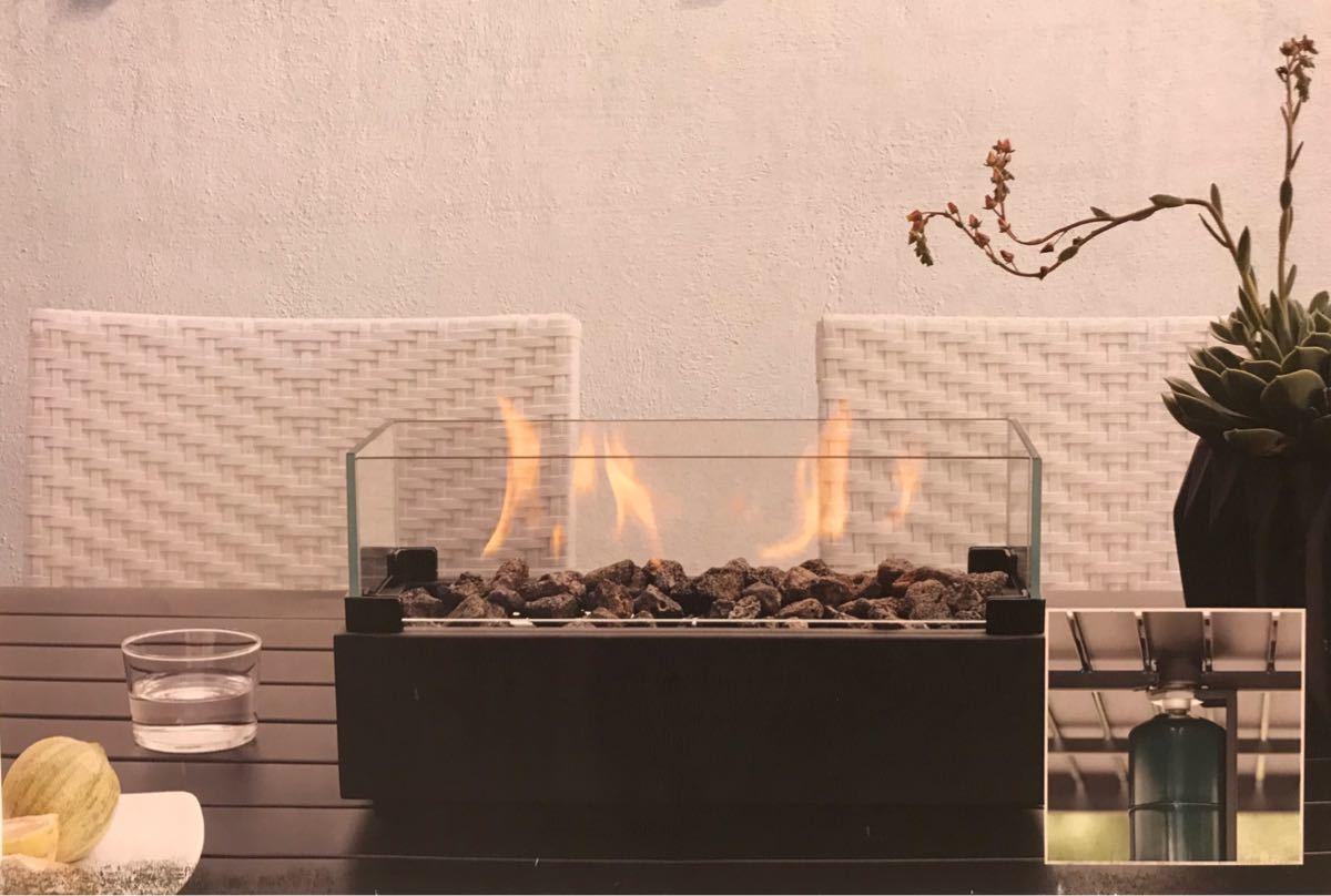 【新品】カセットガス可 卓上 暖炉 ファイヤープレイス 屋外 屋内 ヒーター BBQ ホームパーティー キャンプ ストーブ 【送料無料条件有】