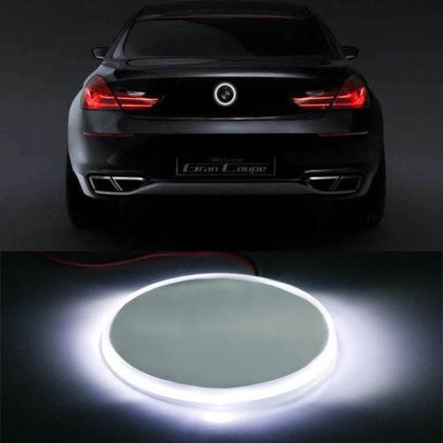 BMW 82mm エンブレム LED 加工 夜光 Mスポーツ 10F11E60E61E39E34E28E12F82E90E92E93E46E36E30E87E82M3M4 フロント リア 白 ホワイト_画像1
