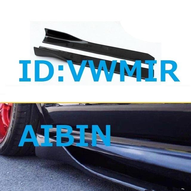 BMW E46E39E90E91E92E87E93E60E61E34F30F31F32F34E70E71F10F11F15F16E53X6X1X4X3X5M3M5M6 M カーボン柄 サイド ウィング スポイラー 左右_画像1