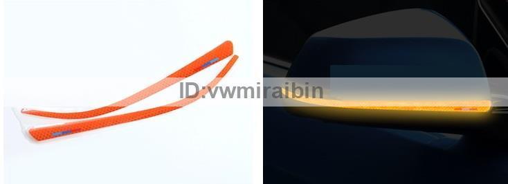 オレンジ 反射 テープ サイド BMW 1 2 3 4 シリーズ GT F20 F34 F30 F31 F22 F32 F33 F36 X1 E84 バック ミラー カバー ステッカー 左右_画像1