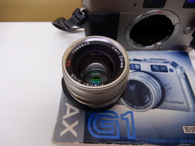 【2410】 CONTAX G1 Carl Zeiss コンタックス カールツァイス 2/45 中古美品_画像3
