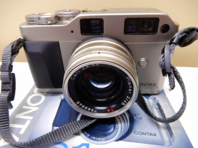 【2410】 CONTAX G1 Carl Zeiss コンタックス カールツァイス 2/45 中古美品_画像8