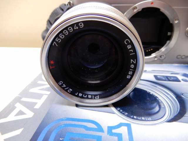 【2410】 CONTAX G1 Carl Zeiss コンタックス カールツァイス 2/45 中古美品_画像4