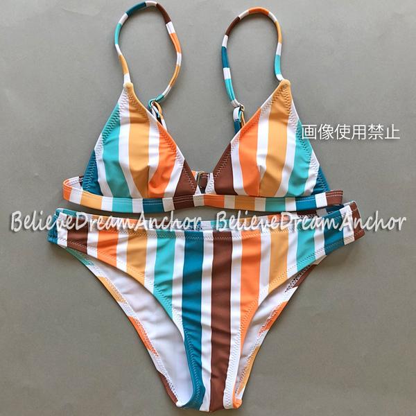 f74fc651db5 代購代標第一品牌- 樂淘letao - *即決*新品*セクシーハイレグブラジリアンビキニ*M*水着 *ストライプスイムウェアビーチバレー水泳競泳ハワイインポートグラビア