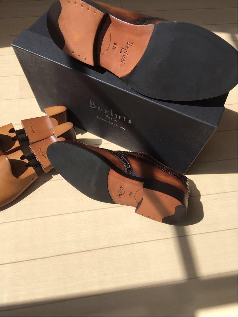 新品未使用◇極上 定価28万 Berluti James Ellipse Leather Oxford ベルルッティ ウイングチップ 6,5 25,5cm 2016-17FW_画像3