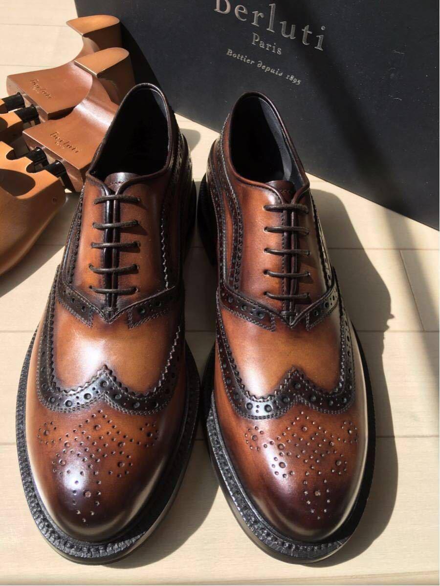 新品未使用◇極上 定価28万 Berluti James Ellipse Leather Oxford ベルルッティ ウイングチップ 6,5 25,5cm 2016-17FW_画像6