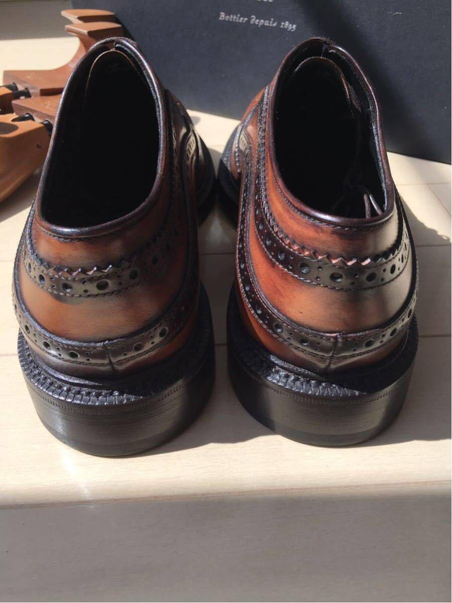 新品未使用◇極上 定価28万 Berluti James Ellipse Leather Oxford ベルルッティ ウイングチップ 6,5 25,5cm 2016-17FW_画像4