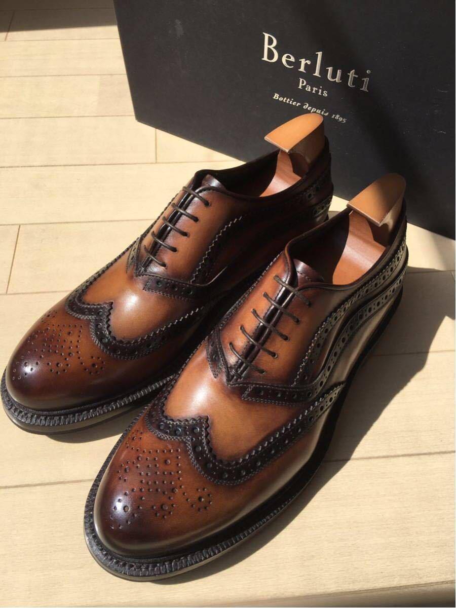 新品未使用◇極上 定価28万 Berluti James Ellipse Leather Oxford ベルルッティ ウイングチップ 6,5 25,5cm 2016-17FW