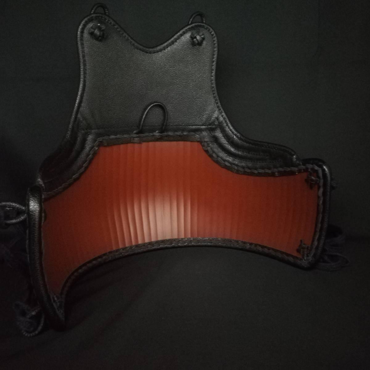黒石目50本型胴 ベタナナメ刺 胸は腕の動きを妨げないえぐり仕様 サイズM/L 胴紐付き 新品未使用_画像4