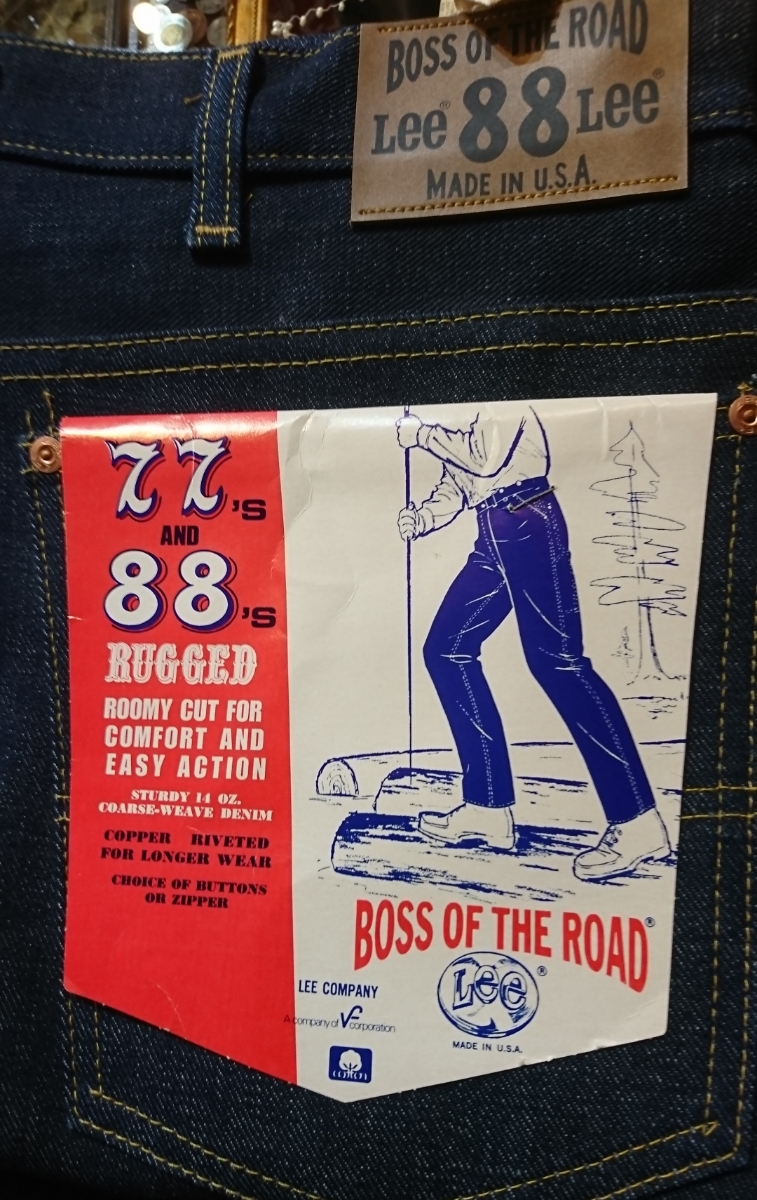 lee boss of the road logger pants 70s vintage dead stock Lee Boss ob