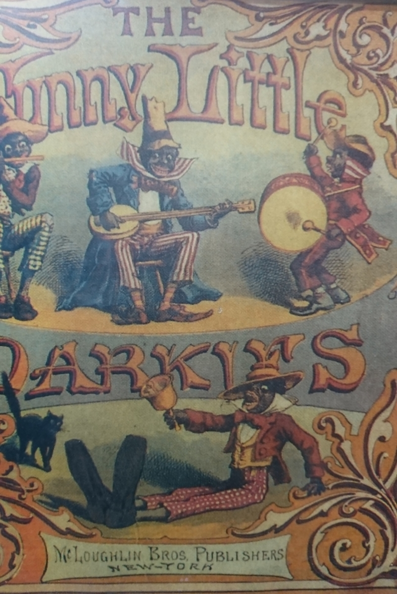funny little darkles mcloughlin bros.publishers 1900年代 絵本_画像2