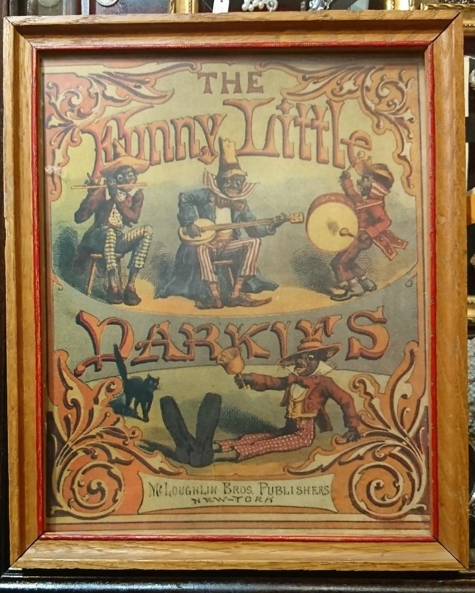 funny little darkles mcloughlin bros.publishers 1900年代 絵本_画像1