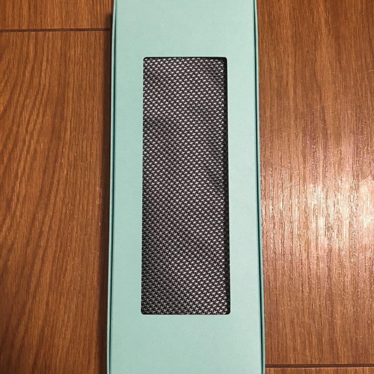 新品未使用・入手不可 Tiffany & Co. ティファニー イタリア製Made in Italy シルク100% ネクタイ ティファニーブルー_画像2