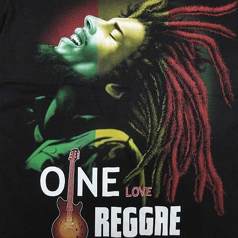 【新品】ボブマーリー Bob Marley 半袖Tシャツ レゲエ ラスタ ガンジャ 大麻 マリファナ 両面プリント 黒 メンズ Sサイズ ■管理番号L185_画像2