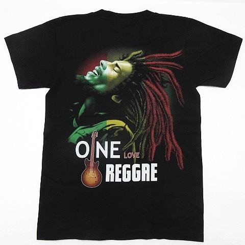 【新品】ボブマーリー Bob Marley 半袖Tシャツ レゲエ ラスタ ガンジャ 大麻 マリファナ 両面プリント 黒 メンズ Sサイズ ■管理番号L185_画像3