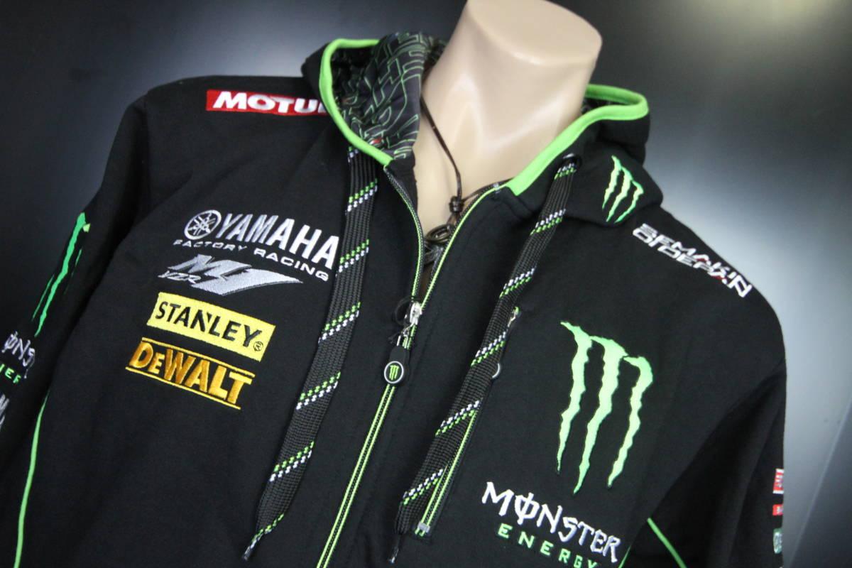 正規品 【Monster TECH3 YAMAHA】motoGP オフィシャル 公式 パーカー BLACK フーディ【M】(検 Super Bike Yamaha Racing ZARCO 5 M1)_画像2