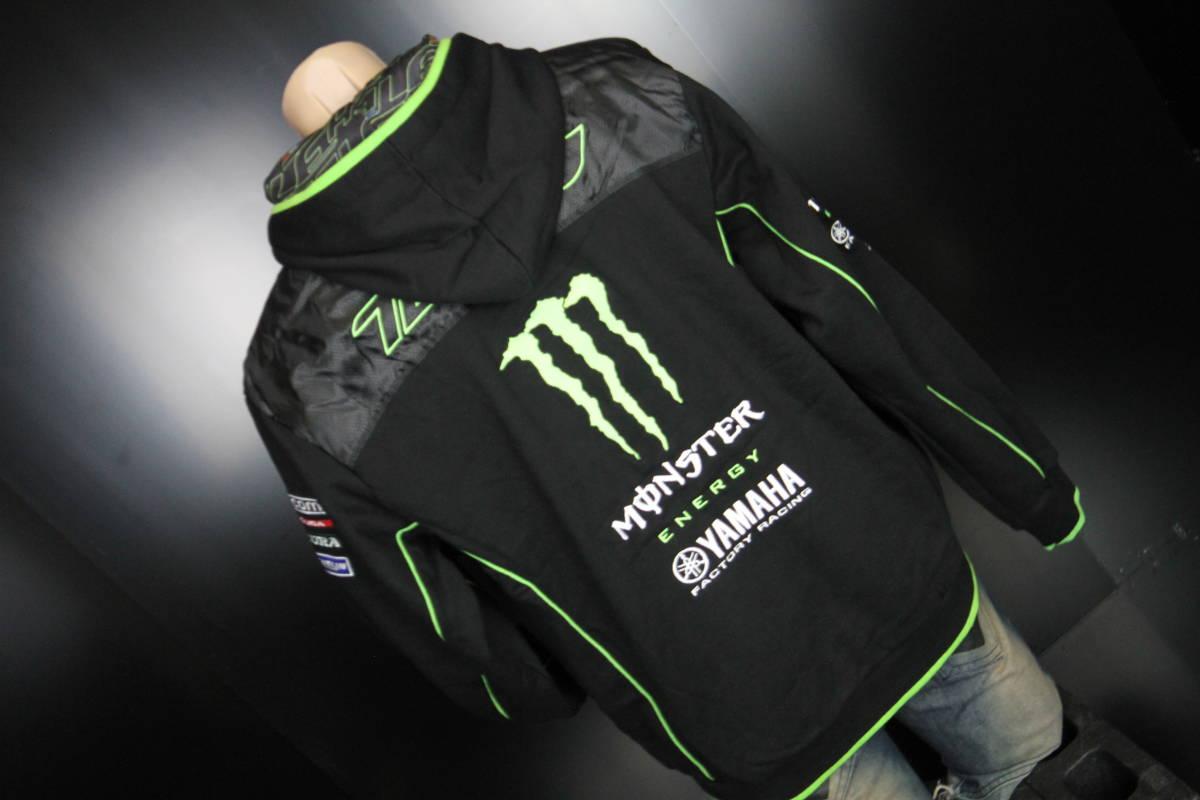 正規品 【Monster TECH3 YAMAHA】motoGP オフィシャル 公式 パーカー BLACK フーディ【M】(検 Super Bike Yamaha Racing ZARCO 5 M1)_画像3