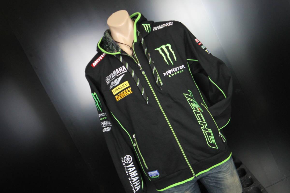 正規品 【Monster TECH3 YAMAHA】motoGP オフィシャル 公式 パーカー BLACK フーディ【M】(検 Super Bike Yamaha Racing ZARCO 5 M1)_画像6