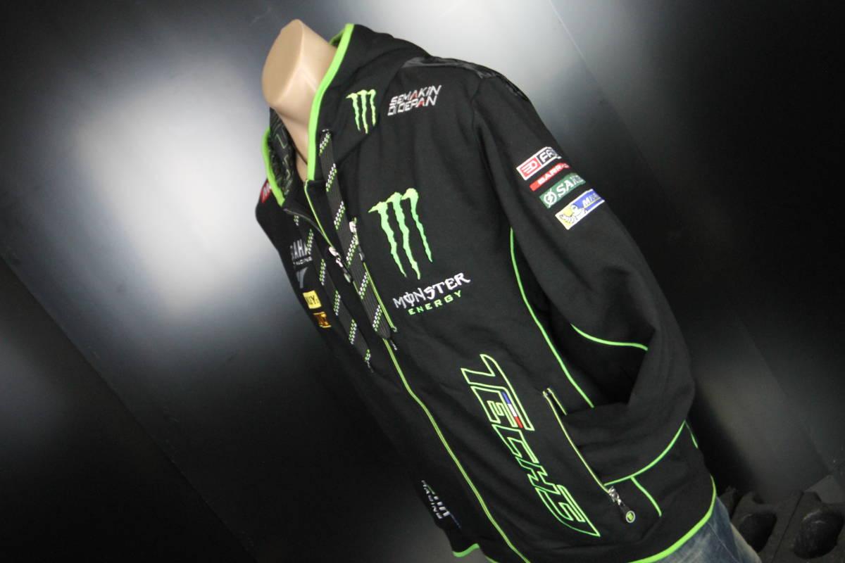 正規品 【Monster TECH3 YAMAHA】motoGP オフィシャル 公式 パーカー BLACK フーディ【M】(検 Super Bike Yamaha Racing ZARCO 5 M1)_画像7