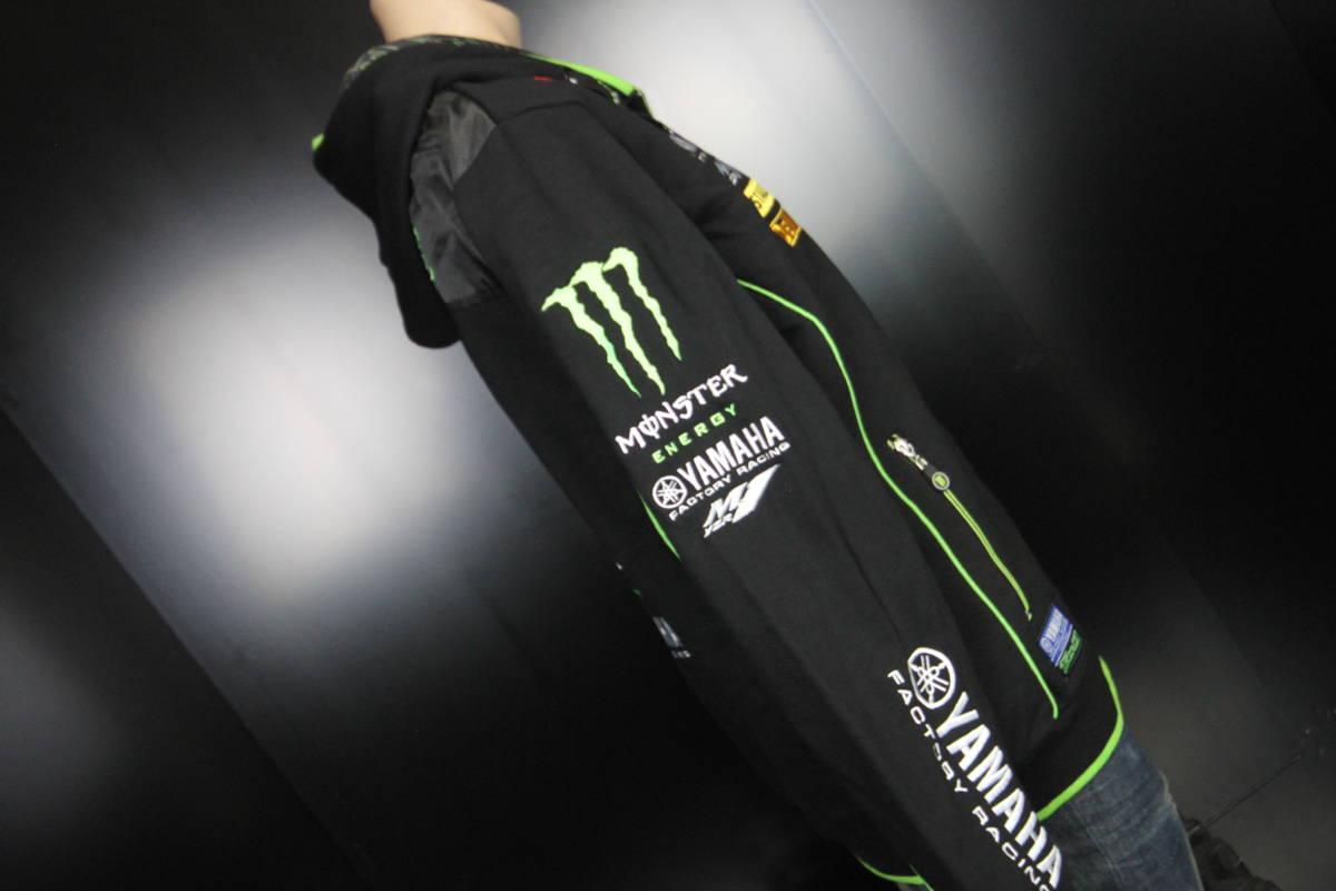 正規品 【Monster TECH3 YAMAHA】motoGP オフィシャル 公式 パーカー BLACK フーディ【M】(検 Super Bike Yamaha Racing ZARCO 5 M1)_画像8