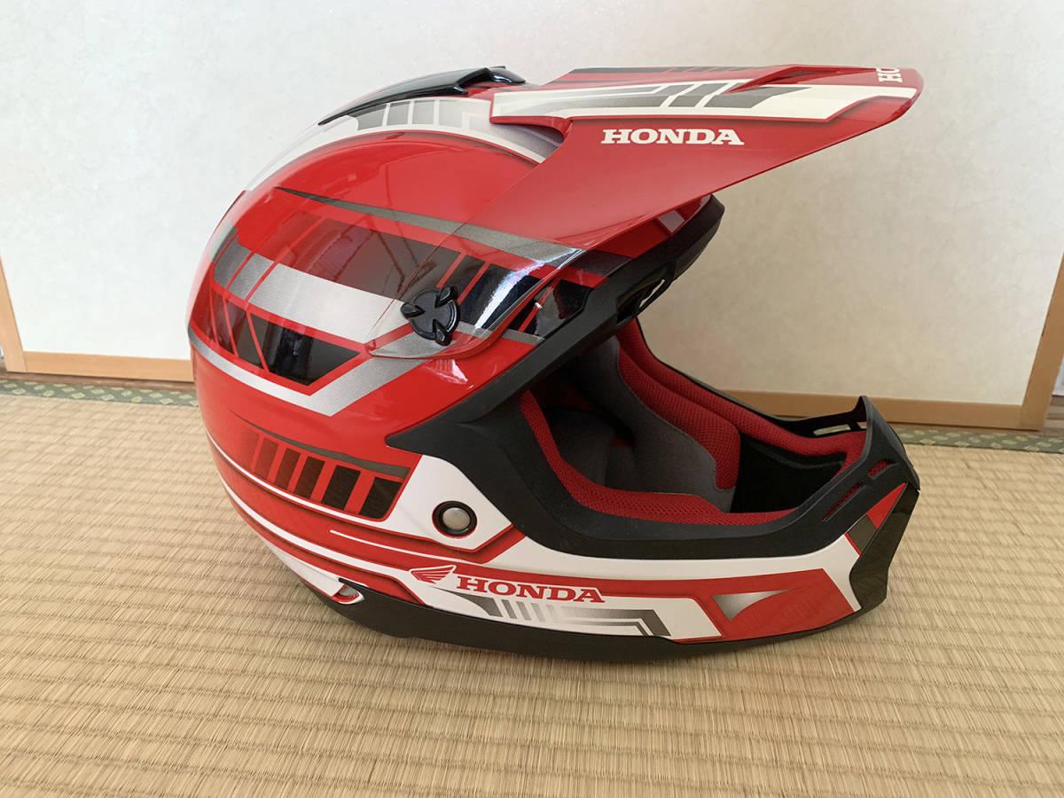 HONDA製 オフロード用ヘルメット SWANSミラーゴーグル付き Lサイズ_画像6