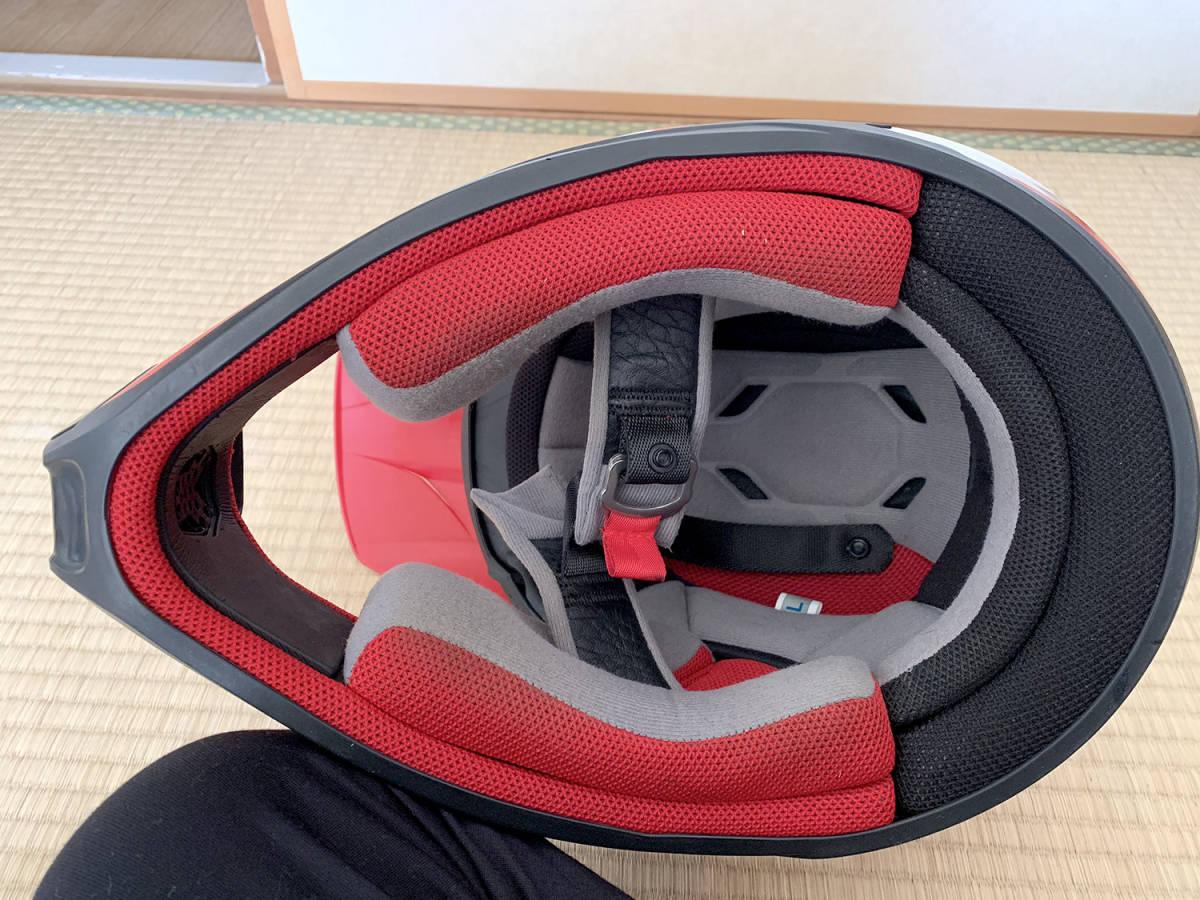 HONDA製 オフロード用ヘルメット SWANSミラーゴーグル付き Lサイズ_画像7