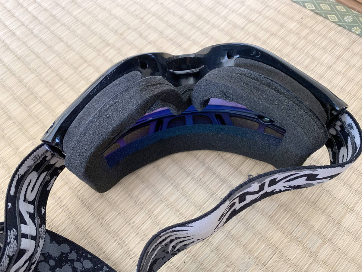 HONDA製 オフロード用ヘルメット SWANSミラーゴーグル付き Lサイズ_画像10