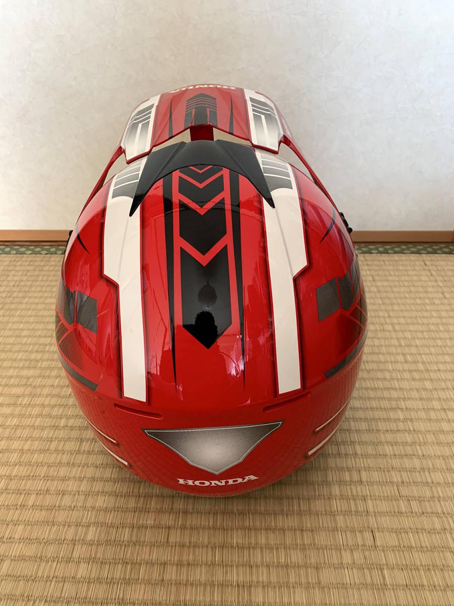 HONDA製 オフロード用ヘルメット SWANSミラーゴーグル付き Lサイズ_画像4