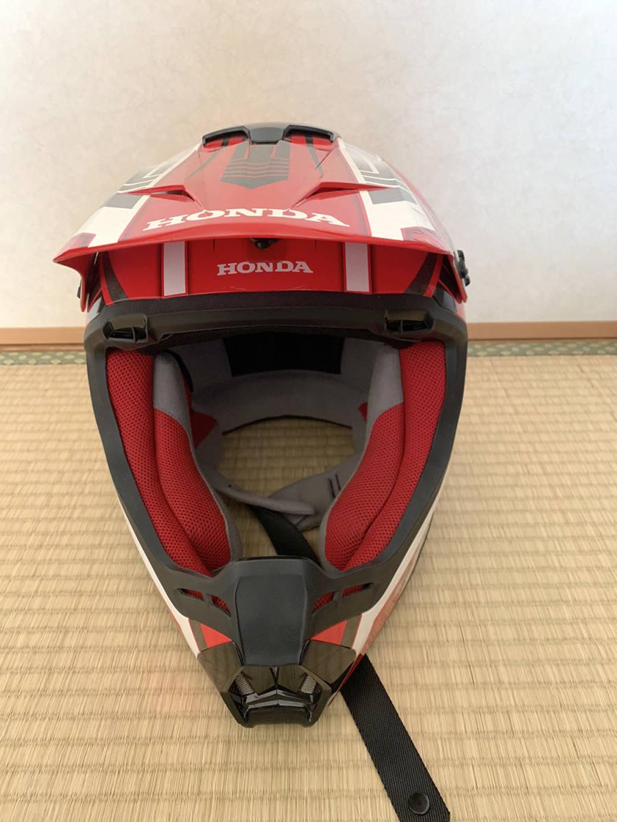 HONDA製 オフロード用ヘルメット SWANSミラーゴーグル付き Lサイズ_画像3
