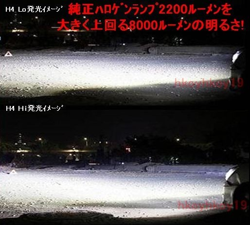 本物! 8000LM ルーメン タント L 350S 360 375 385 LA 600 610 H4 Hi Lo 6500K ヘッドライト 1年保証 車検対応_画像4