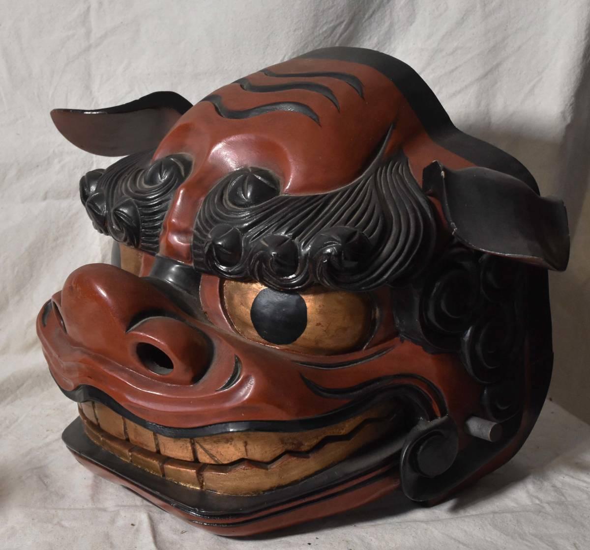 獅子頭 獅子舞 木彫 伝統芸能_画像2