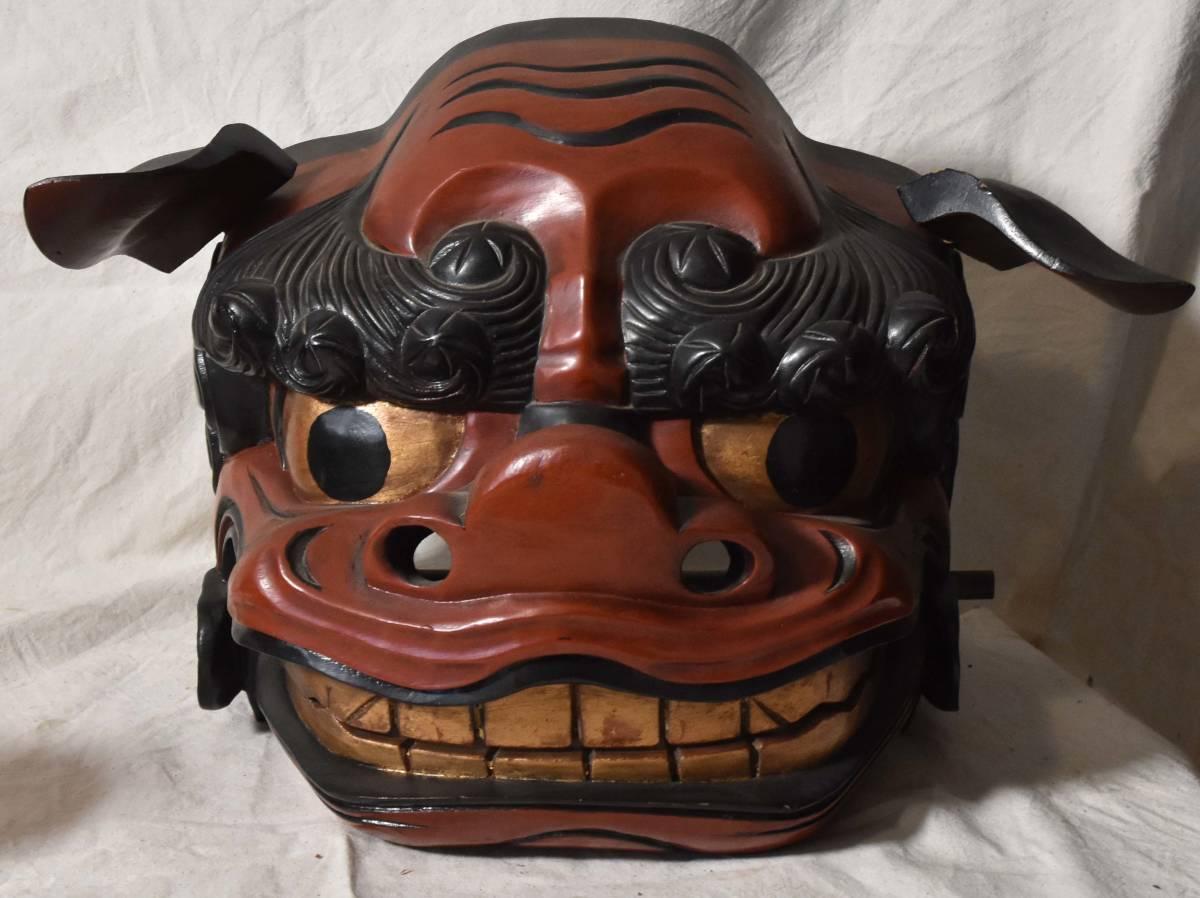 獅子頭 獅子舞 木彫 伝統芸能