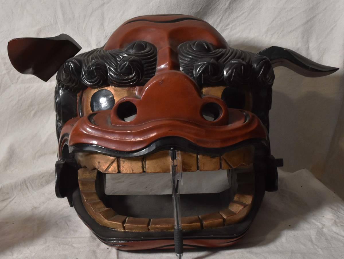 獅子頭 獅子舞 木彫 伝統芸能_画像5