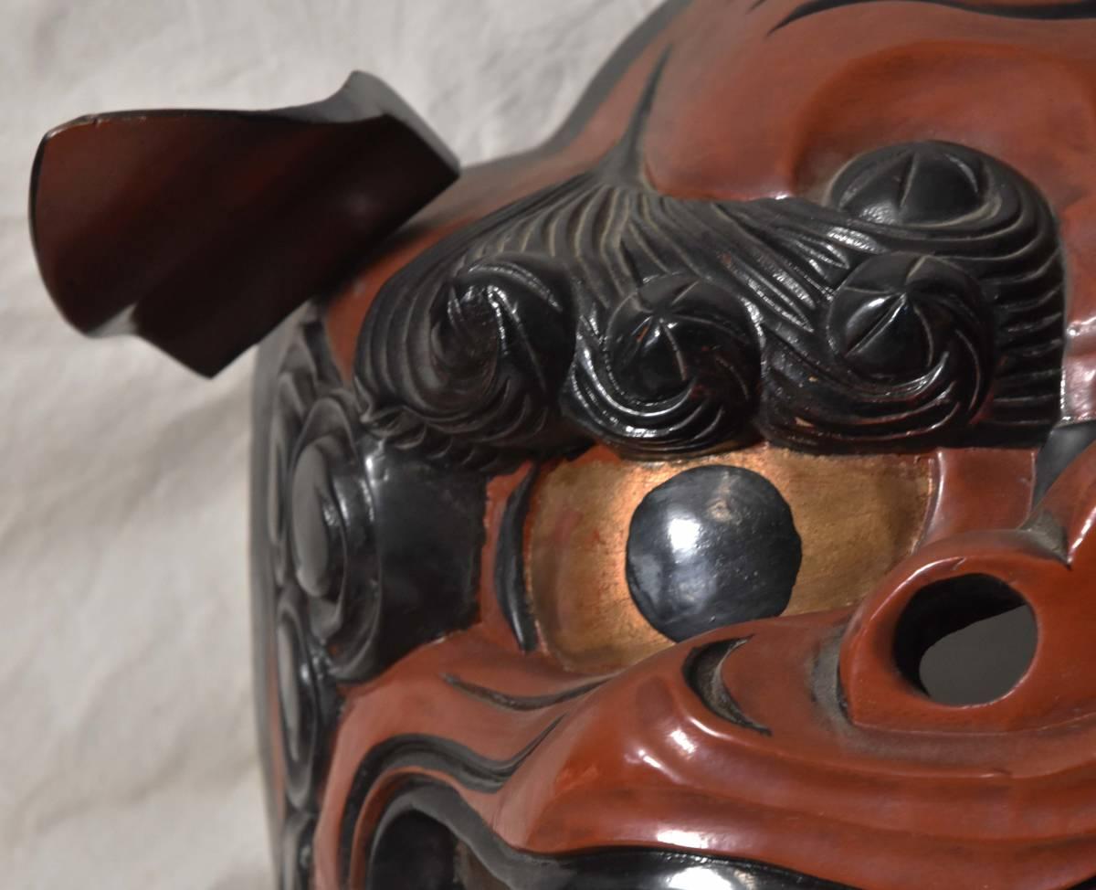 獅子頭 獅子舞 木彫 伝統芸能_画像6