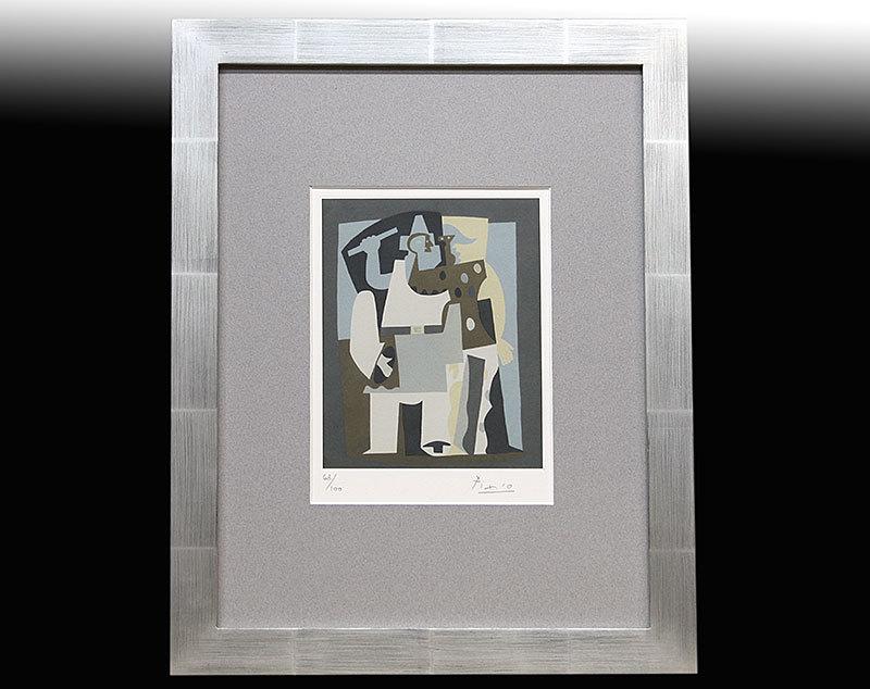 パブロ・ピカソ直笔サイン証明书「Pierrot 63/100」